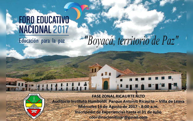 Fase Zonal del Foro Educativo Departamental 2017