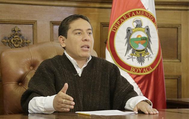 Comunicado Gobernador de BOyacá