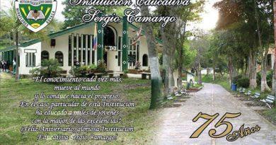 I.E. Sergio Camargo de Miraflores celebra sus 75 años
