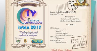 La I.E técnica y académica Antonio Nariño de villa de Leiva realizará la IV feria de universidades