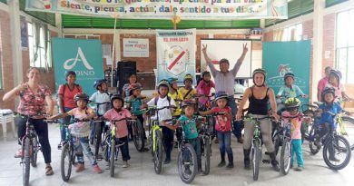 I.E el Rosario de Paya agradece al centro comercial Andino por la entrega de bicicletas