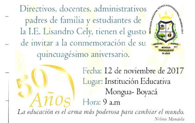50 años Mongua