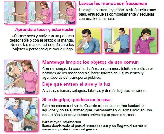 pasos prevenir imagen influenza