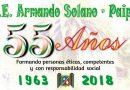 Celebración 55 Años de la I. E. Armando Solano de Paipa
