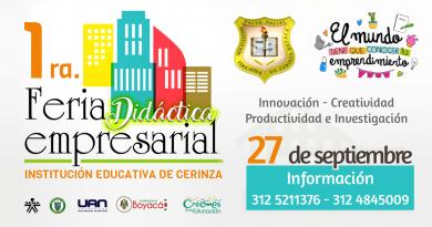 1ra. Feria Didáctica Empresarial – Institución Educativa de Cerinza