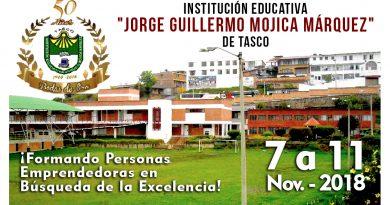 La I. E. Jorge Guillermo Mojíca Márquez de Tasco celebra sus 50 años