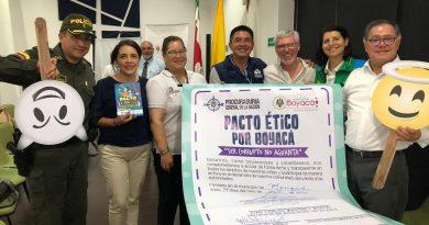 Procuraduría y Secretaría de Educación de Boyacá firmaron Pacto Ético por Boyacá