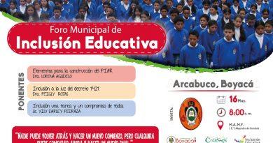 Foro Municipal de Inclusión Educativa en Arcabuco