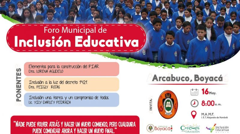 Inclusion Arcabuco
