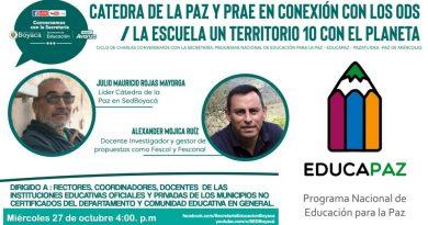 Ciclo de charlas 'Conversemos con la Secretaría' inicia este miércoles 27